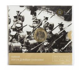 2014 £2 Out Break Brilliant Uncirculated pack for sale